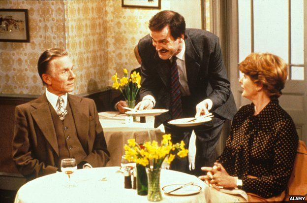 Scene in the restaurant from Fawlty Towers