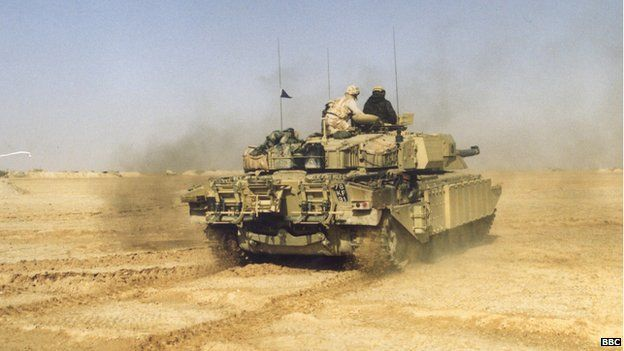 BBC pic of GB challenger tank and crew in desert N/A