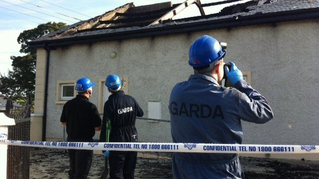 Garda forensic officers have been carrying out an examination of the scene on Monday
