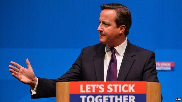 David Cameron in Aberdeen, 15/9/14