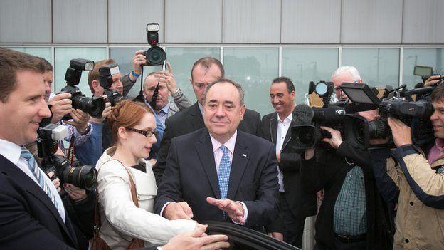 Alex Salmond at Edinburgh airport