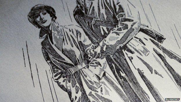 Burberry trench coat advert