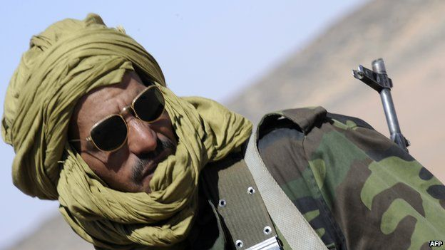 Pro-independence Polisario Front soldier is pictured on 28 February 2011 near the Western Sahara village of Tifariti