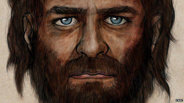 Artist impression of the male-hunter gatherer