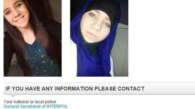 Interpol photo of Sabina Selimovic