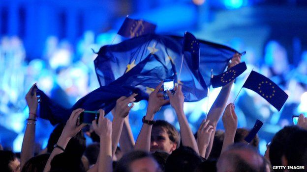 Croatians celebrate the country's entry to the EU, 30 June 2013