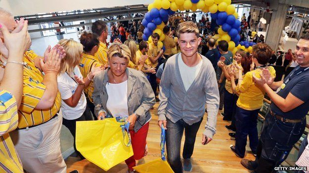 The first customers as Ikea's first store in Croatia opens, August 21, 2014