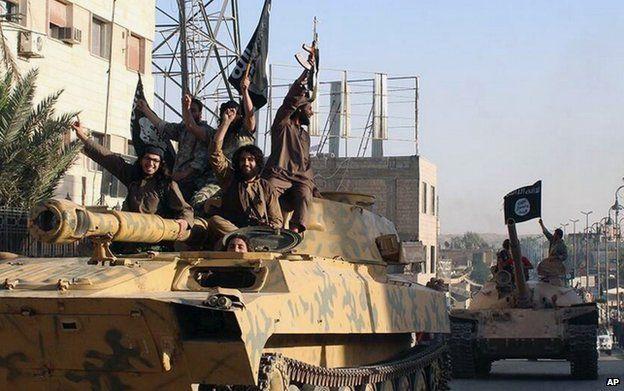 Islamic State parade in Raqqa, Syria, 30 June