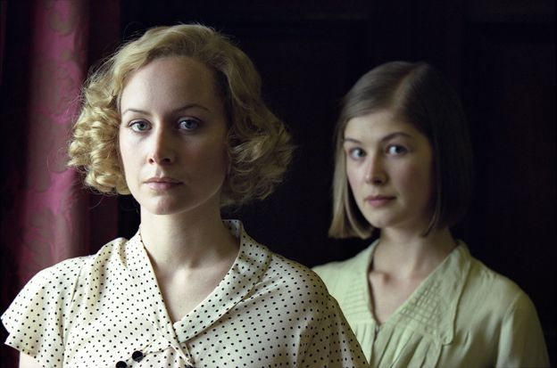 Megan Dodds and Rosamund Pike in BBC adaptation of Love In A Cold Climate