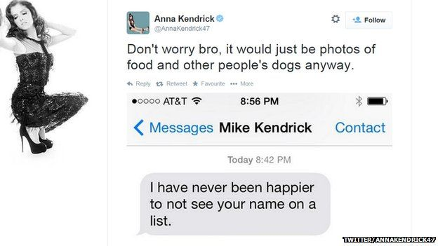 "Anna Kendrick said leaks made her feel ""paranoid""."
