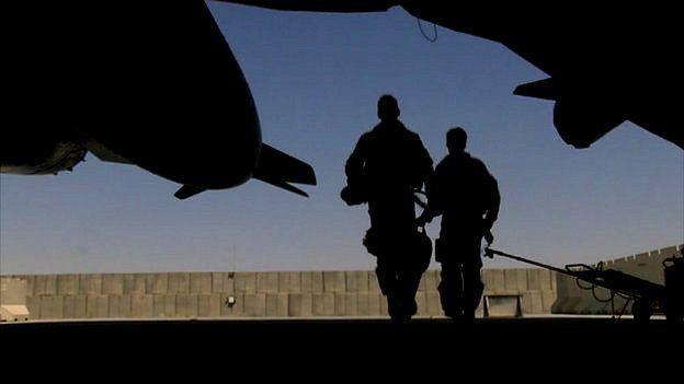RAF pilots at Kandahay Airfield, Afghanistan