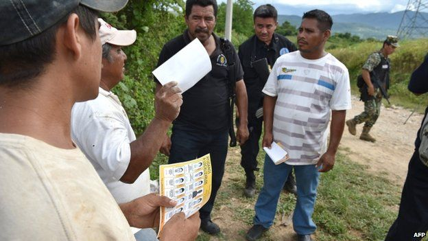 Residents receive information about the incident