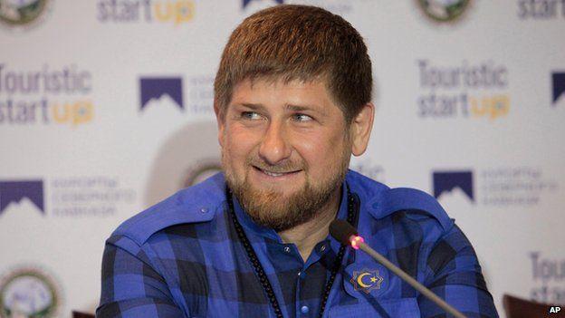 Chechen leader Ramzan Kadyrov shown on 12 April 2014.