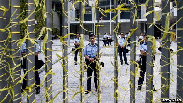 Hong Kong yellow ribbon protest