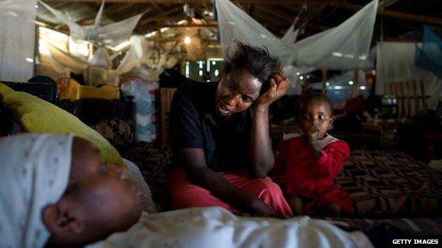 IDP camp in Nairobi's Mathare slum, February 2008