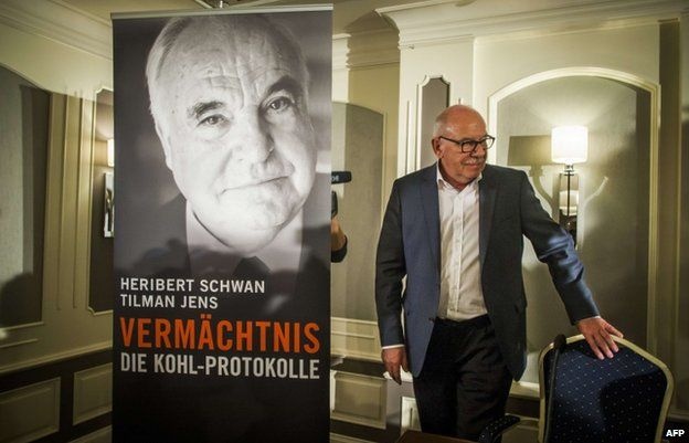 Heribert Schwan, author of the book Legacy: the Kohl Transcript speaks at a press conference on 7 October 2014 in Berlin, Germany