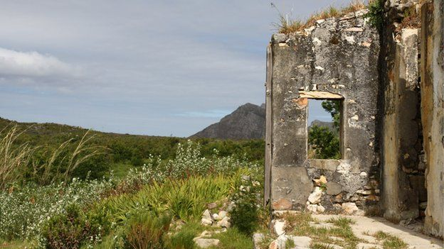 Ruins of homes, Cape Town, South Africa (October 2014)