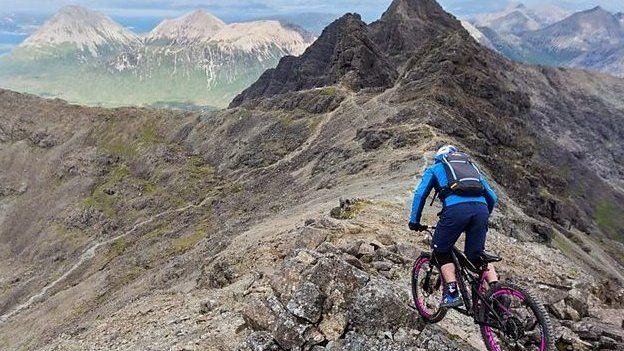 Danny MacAskill on the Cuillin Ridge