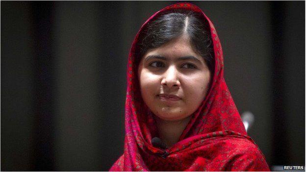 Pakistani schoolgirl activist Malala Yousafzai