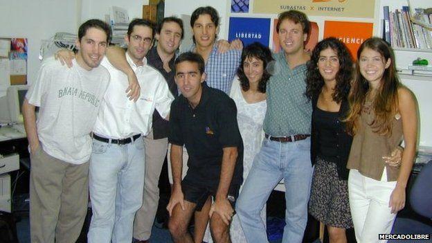MercadoLibre's initial team in 1999