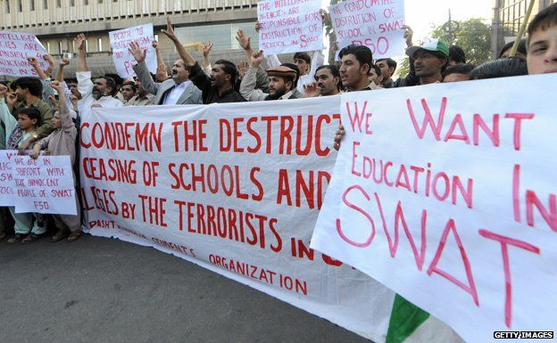 Protest for education in Swat