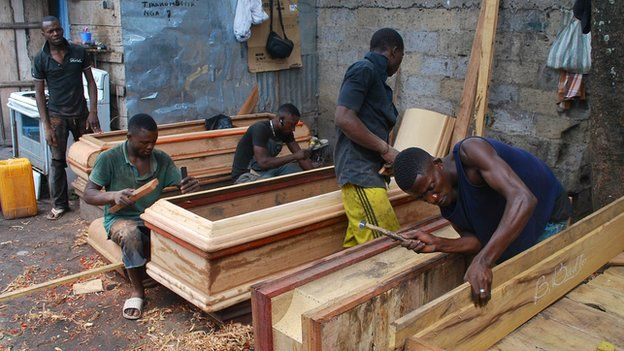Dixon's coffin workshop