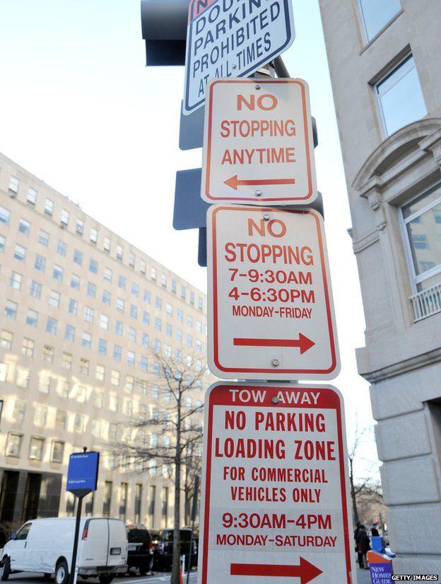 Parking sign in Washington DC