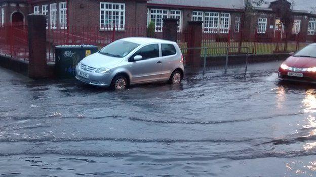 Fane Street flooding