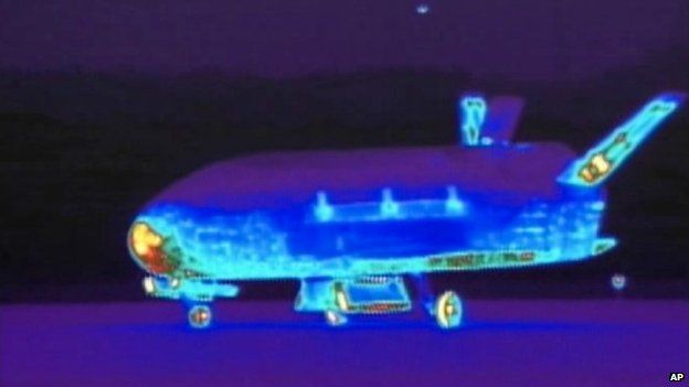 An infrared view of the spaceplane