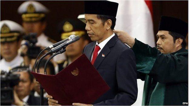 Joko Widodo is sworn in (20 Oct 2014)