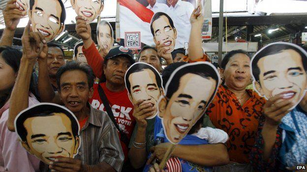 Joko Widodo supporters