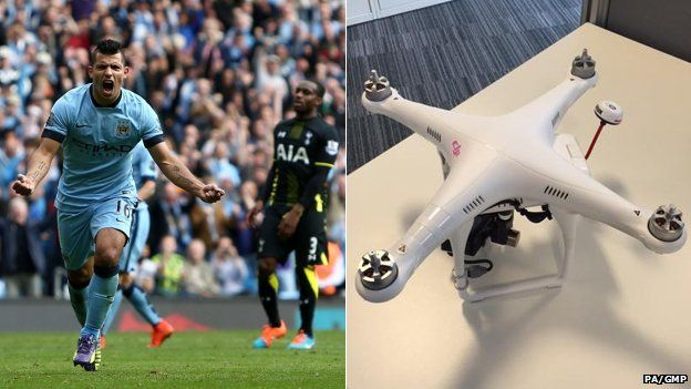 Manchester City v Spurs and drone
