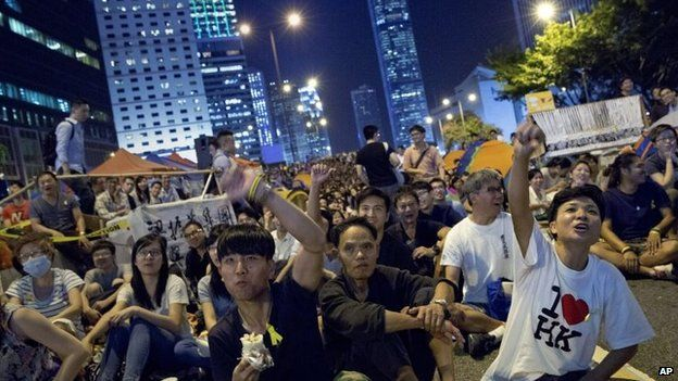 Pro-democracy protesters in Hon Kong