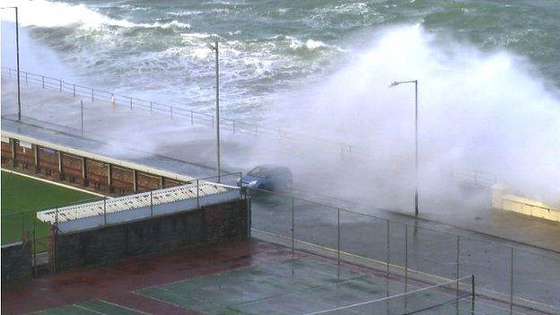 Waves in Douglas, Isle of Man