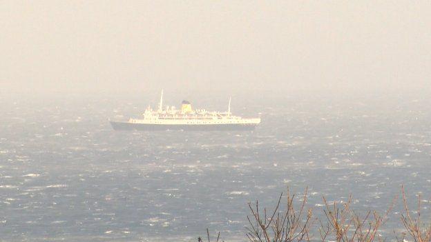 MV Funchal in Douglas Bay