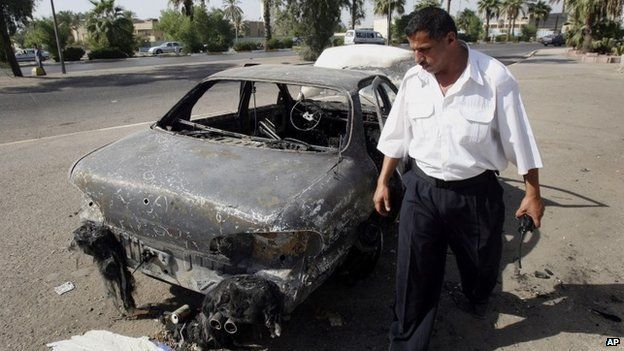 Al-Nisoor Square in Baghdad, in Sept 2007