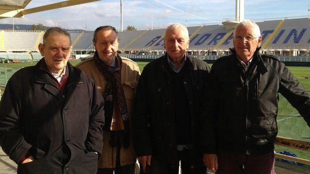 The witnesses reunite at Stadio Artemi Franchi: Ardico Magnini, Gigi Boni, Ronaldo Lomi and Romolo Tuci