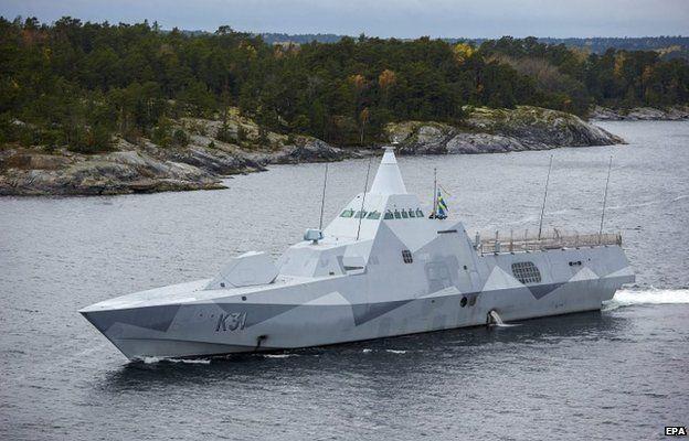 Sweden's HMS Visby in the Stockholm Archipelago