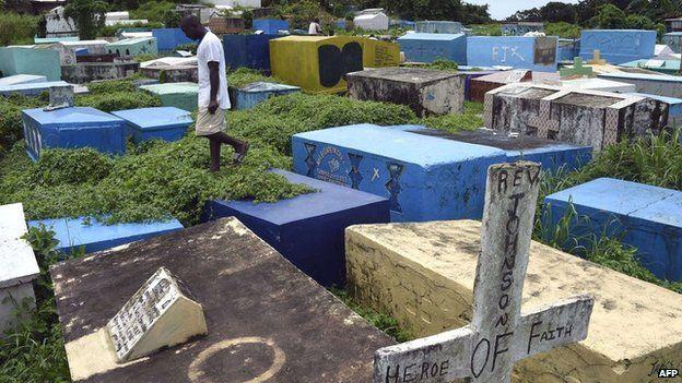 The Tweh farm cemetery in Monrovia, Liberia - Tuesday 30 September 2014