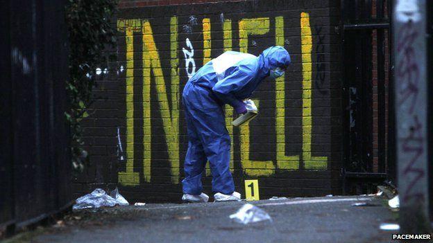Forensics expert at scene