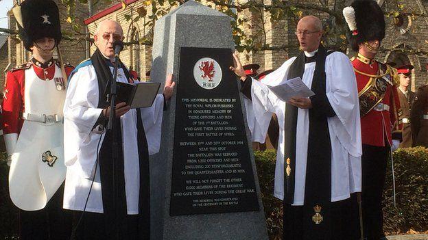 Dedication of the memorial