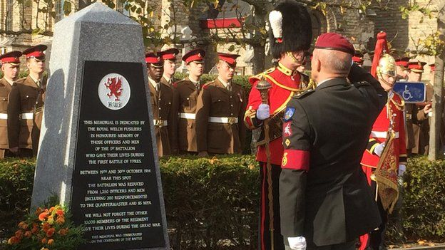 A memorial was unveiled near the village of Zandvoorde.