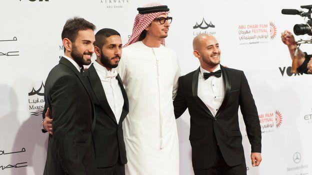 Ali Mostafa and cast