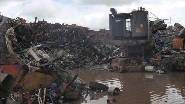 One of the scrap yards investigated in Kilgetty