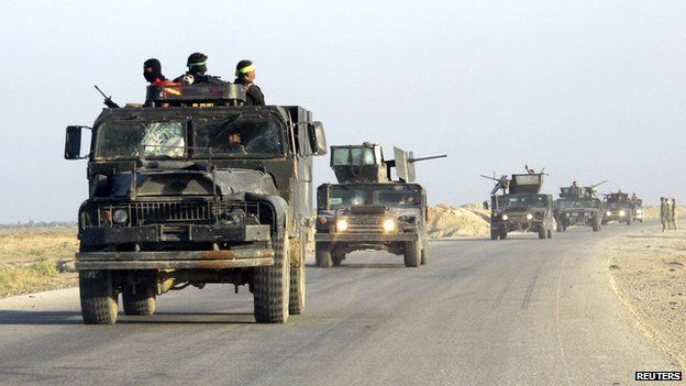 Iraqi government-led security forces in Jurf-al-Sakhar