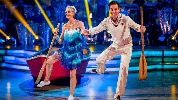 Judy Murray dancing with Anton Du Beke