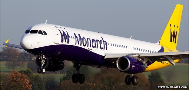 Monarch Airbus A321-231 at Luton Airport
