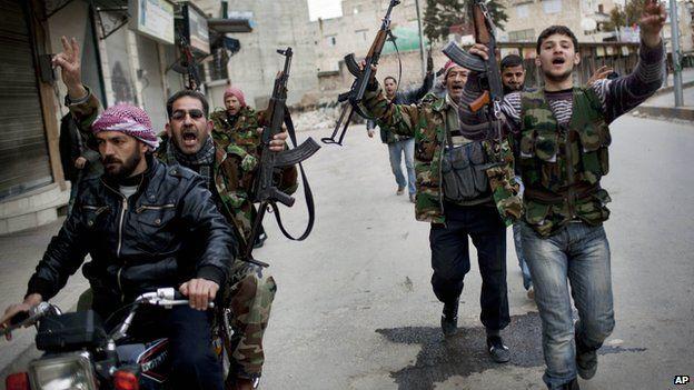 Rebels in Idlib, March 2012