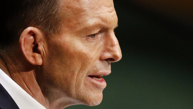 Australian Prime Minister Tony Abbott. 25 Sept 2014