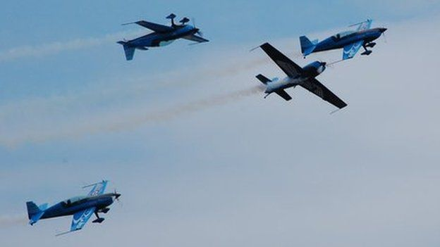 Blades display team at the Southend Air Festival